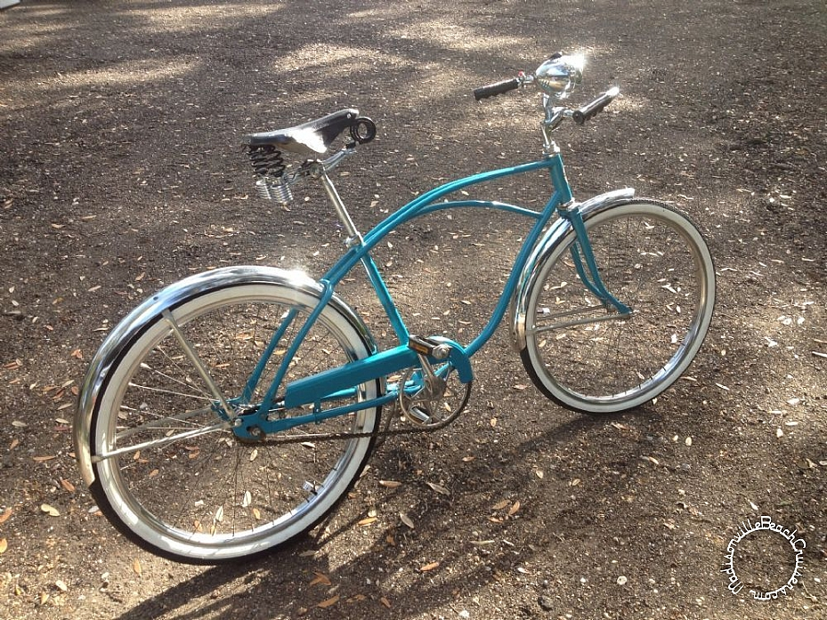1965 Hawthorne with Hawthorne light, horn, and speedometer, Brooks B135 saddle
